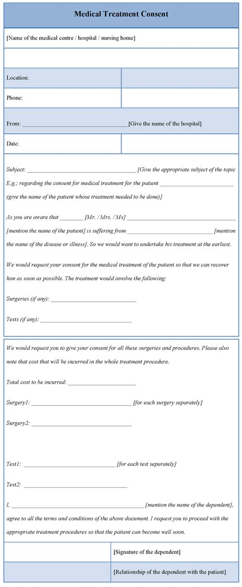 medical treatment consent form driverlayer search engine