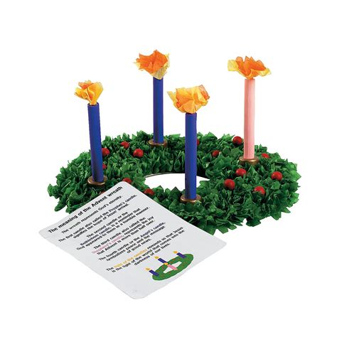 advent wreath craft for tissue paper advent wreath craft kit trading