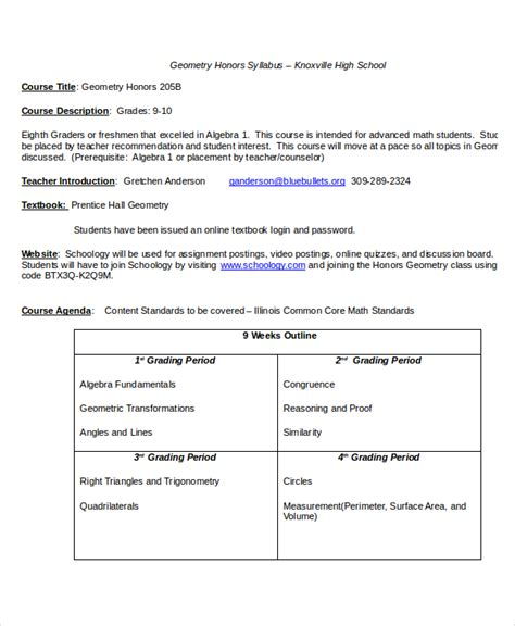 college syllabus template syllabus template 7 free word documents free