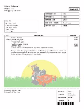 landscaping invoice template free free business template