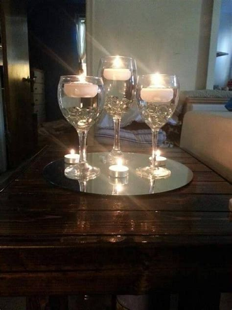 decorative glass centerpieces decorating candle centerpieces upcycle art