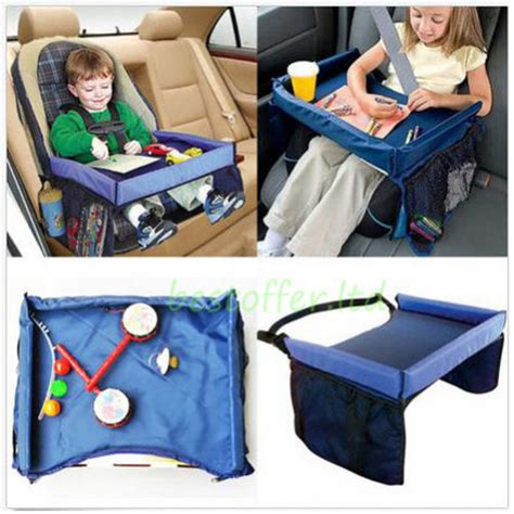 car child safety seat snack play travel tray drawing