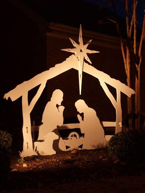 light style nativity scene large outdoor nativity set w soft flood light just