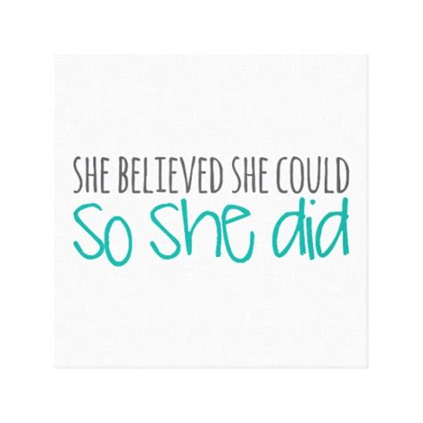 she believed she could so she did 2018 planner weekly and monthly calendar schedule organizer and journal notebook books she believed she could so she did canvas print zazzle