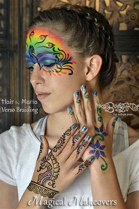 henna tattoo on face bay area painters magical makeovers hair braiding