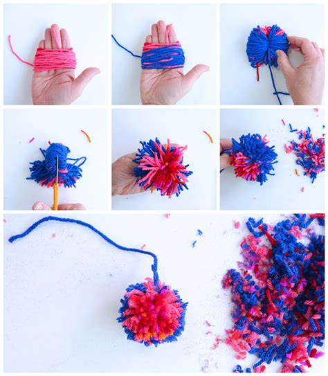 learn how to make pom poms and craft decorative items from them creative basics how to make pom poms babble dabble do