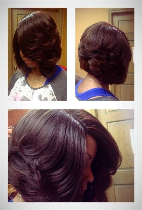 layered african american hair layered bob straight hair pinterest bobs my hair