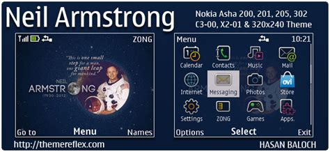 nokia c3 themes with media player skin a tribute to neil armstrong themes for nokia series 40