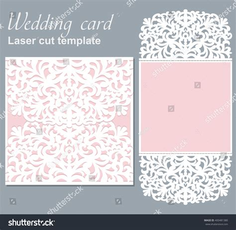 laser cut greeting card template vector die laser cut wedding card stock vector 400481380