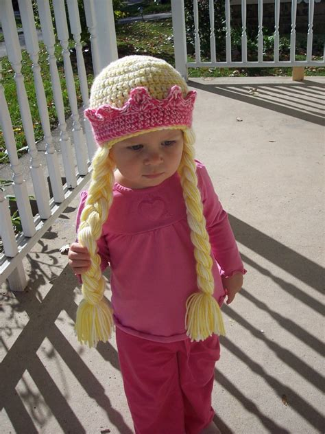 crochet princess hat with braids princess hat with braids and crown
