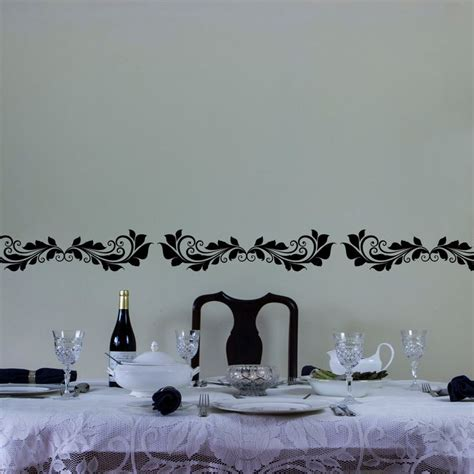 wallborder sticker dinding b1103 floral vinyl wall decal border for interior