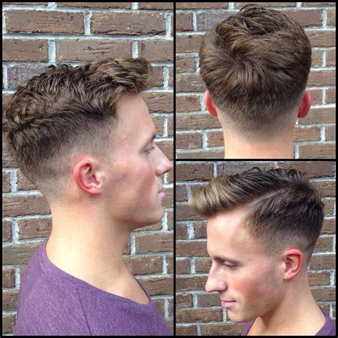 Mens Skin Fade Haircut Keeping Length Top Back Shaved | mens skin fade haircut keeping length top back shaved