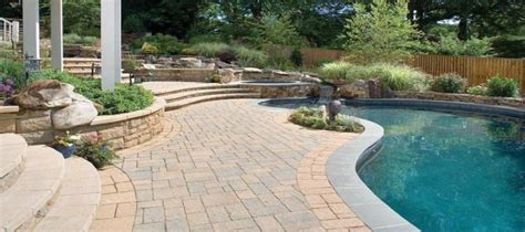 techo pavers techo bloc pavers for landscaping around a deck or patio