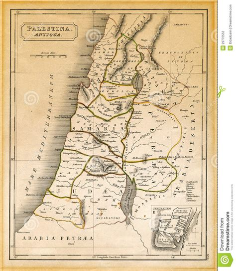 lade da terra moderne la carte antique de la palestine a imprim 233 1845