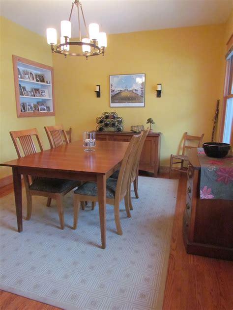 craftsman dining room  benjamin moore hanna banana