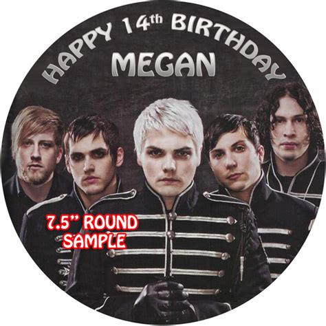 chemical romance   personalised edible cake topper ebay
