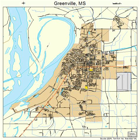 map of greenville greenville mississippi map 2829180