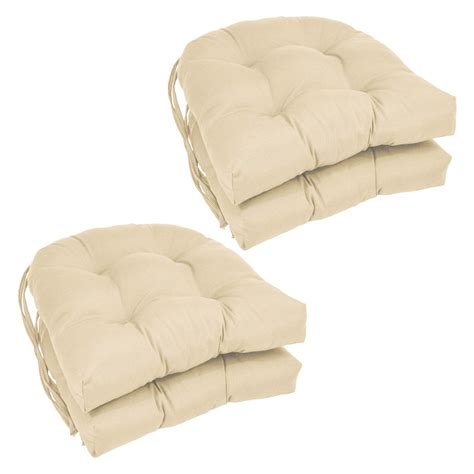 16 Chair Cushions by Blazing Needles U Shape 16 X 16 In Twill Dining Chair