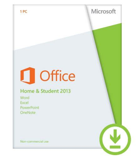 microsoft office home and student 2013 1pc 1user software