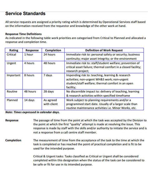 shared service agreement template 9 service level agreement templates free word pdf
