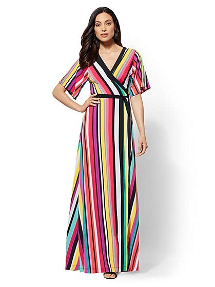 Striped Dress Maxi V Neck maxi dresses for new york company