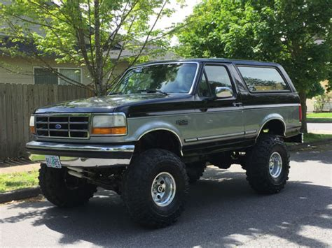 ford bronco lifted 1993 ford bronco 4x4 lifted 2dr 5 0l 302 v8 60k on rebuilt