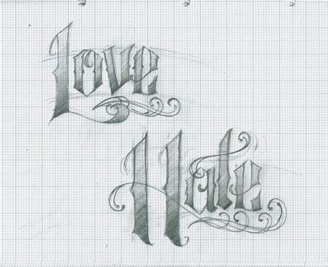 love and hate tattoos lettering by 12kathylees12 on deviantart
