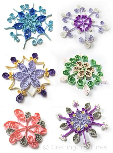 quilling designs quilled snowflakes crafting creatures