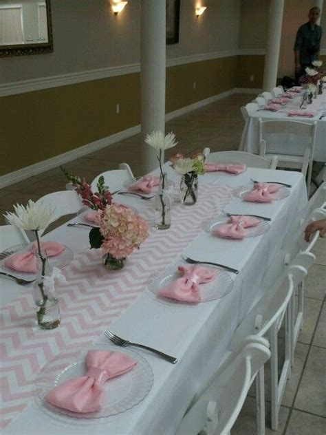 baby shower table settings my sister s baby shower table setting party ideas