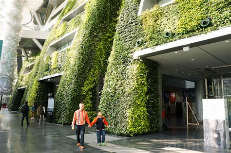 Green Design Ideas 7 story indoor green wall is as an enormous air filter for