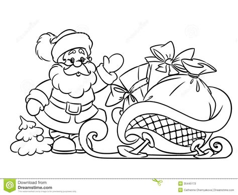 coloring pages of santa claus and sleigh drawn santa his sleigh pencil and in color drawn santa