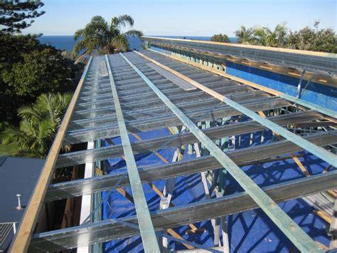 timber skillion roof construction boxspan skillion roof frame second storey