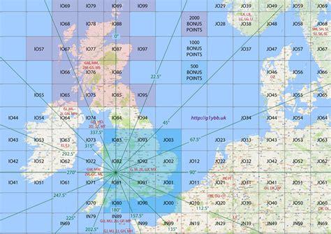 locator map uk and europe vhf contesting maidenhead locator map g1ybb uk