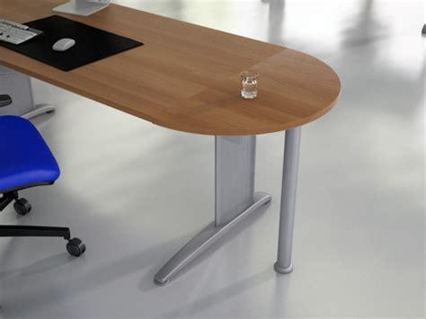 bureau rond retours et extensions bois fonc 233 s achat retours et