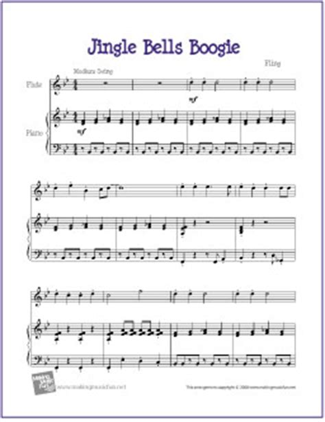 Tablature Wedding Bell by Jingle Bells Boogie Free Sheet Flute And Flutes