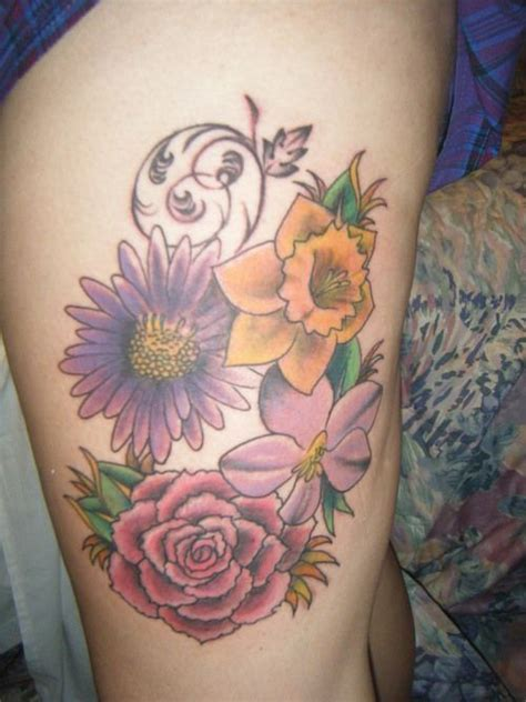 march flower tattoo september birth flower astertattoo march flower daffodils