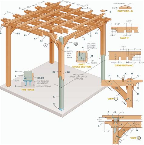 pergola designs plans comment cr 233 er une pergola en bois