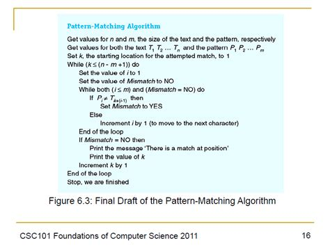 linear pattern matching algorithm java pattern matching algorithm stack overflow