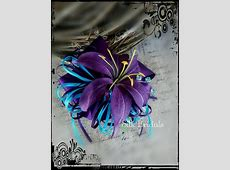 Purple tiger lily WRIST Corsage purple and turquoise ... Giles
