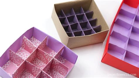 How To Make Paper Dividers - origami 9 section box divider version paper kawaii
