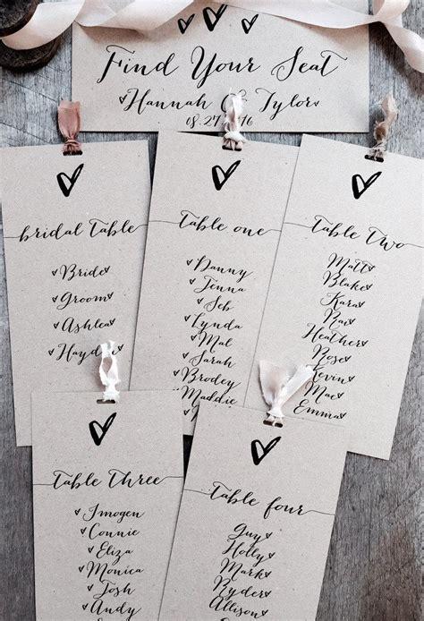 wedding seating arrangement cards wedding seating chart kraft wedding seating plan seating