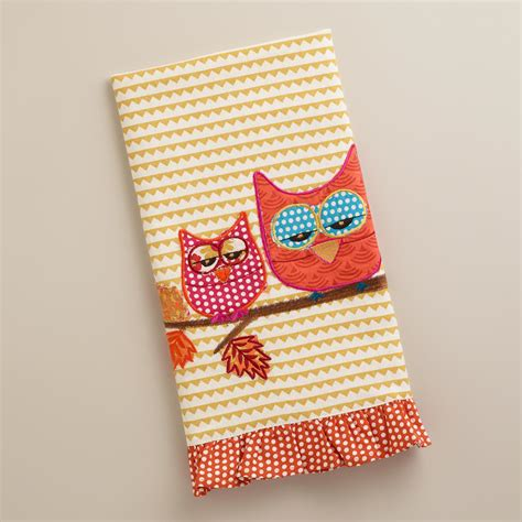 Decorative Dish Towels two owls decorative tea towel world market