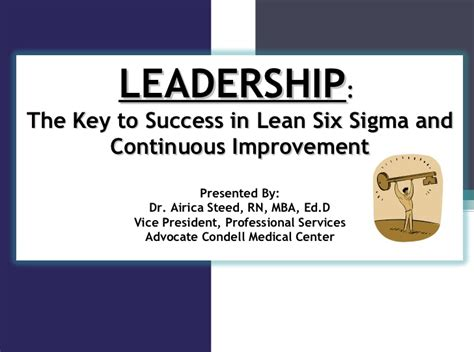 Lean Six Sigma Mba by Leadership The Key To Success In Lean Six Sigma And