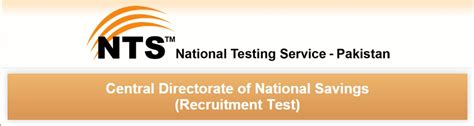test pattern of junior national saving officer central directorate of national savings nts application form