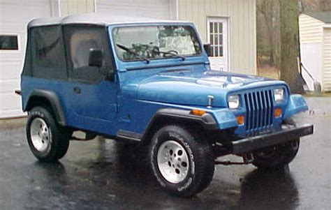 jeep convertible 4 door 1993 jeep wrangler yj royal blue 2 door soft top 4x4