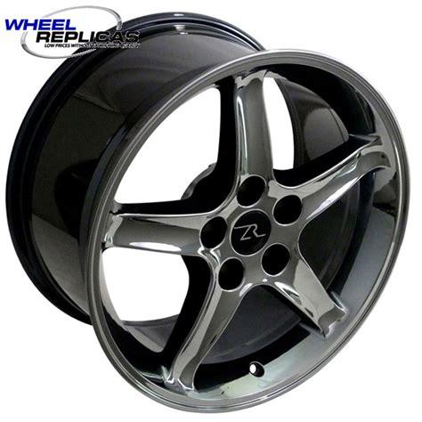 cobra r wheels 17x9 black chrome cobra r style wheels from wheel replicas