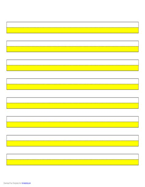 printable highlighted writing paper highlighter paper yellow 6 narrow lines free download