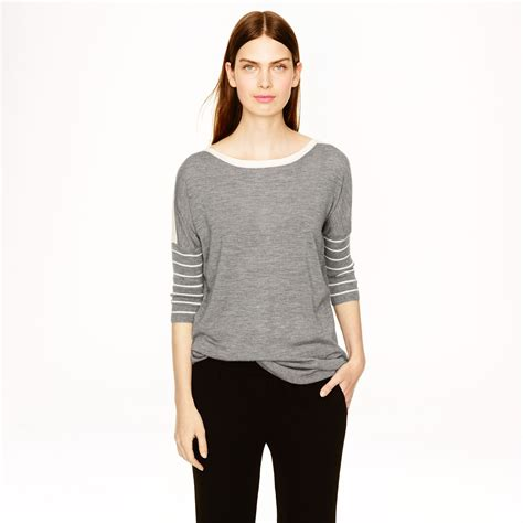 j crew collection cashmere drapey boatneck sweater in - J Crew Boatneck Sweater