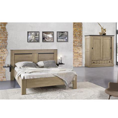lit chene lit ch 234 ne massif meubles leclerc