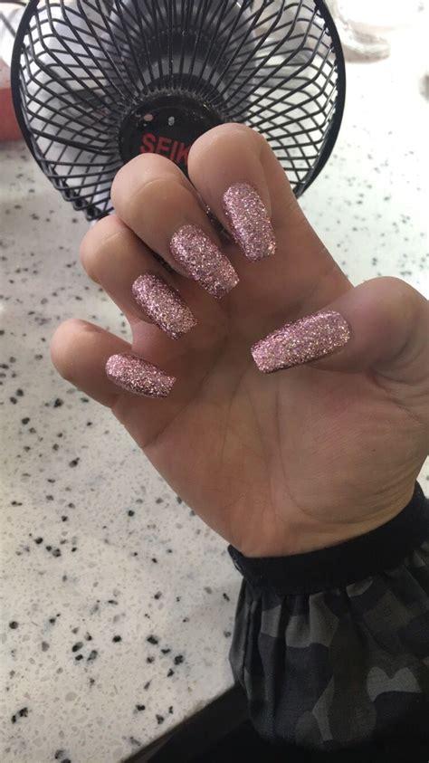 glitter nail acrylics nail glitter gold insta amdzayna